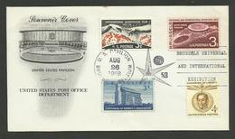 U.S.A. / Souvenir Lettre Cover FDC - U.S. Pavillon 26.08.1958 - 1958 – Brussels (Belgium)