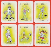 Rare FAMILLE BALOPIED (6 Cartes Issues Du Jeu Des 7 Familles) * Club Icolo ** Humour Sport Foot FOOTBALL à Jouer De - Other Collections