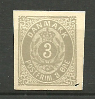 Denmark 3 øre Grey, Cut Of The Imprinted Stamp On Postcard, Unused - Nuovi