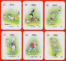 Rare FAMILLE BELESSAI (6 Cartes Issues Du Jeu Des 7 Familles) * Club Icolo  ** Humour RUGBY Sport à Jouer De - Autres Collections