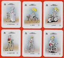 Rare FAMILLE GRANBRAQUET (6 Cartes Issues Du Jeu Des 7 Familles) * Club Icolo  ** Humour VELO CYCLISME Sport à Jouer De - Autres Collections