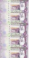 SAUDI ARABIA 5 RIYAL 2017 1438 P-38b KING SALMAN NEW LOT X5 UNC NOTES */* - Saudi Arabia