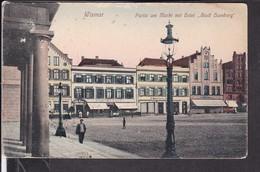 Wismar Partie Am Markt Mit Hotel Stadt Hamburg  1915 - Wismar