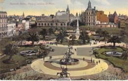 "ARGENTINA Argentine - BUENOS AIRES : Plaza Y Avenida De Mayo- Jolie CPA "" Vernie "" Colorisée - Argentinien Argentinië - Argentina"