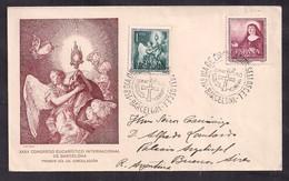 España - 1952 - Lettre - XXXVe Congrès Eucharistique International De Barcelone - Christianity