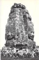 CAMBODGE Cambodia - ANGKOR : LE BAYON Tour à Visages - CPSM Photo Noir Blanc Format CPA Kambodscha Cambodgia Cambodja- - Kambodscha