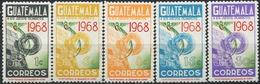 GUATEMALA 1968 Summer Olympics Mexico Birds Animals Fauna MNH - Colibrì
