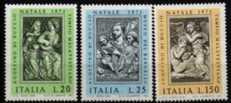 Italy, Italia 1973, Sculptures By Agostino De Duccio 3 Values MNH 15th Century, Music Musicians - Scultura