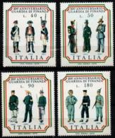 Italy, Italia 1974 200 Year Financial Police Uniforms Military 4 Values MNH - Militaria