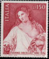 Italy, Italia 1977 Tiziano Vecellio, Painting 1 Value MNH 16t Century Painting - Arte