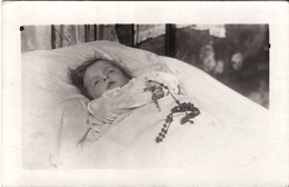 Post Mortem Enfant Mort Photo Carte - Funérailles
