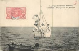 Afrique - DAHOMEY - Cotonou - Débarquement Des Passagers - Nacelle - Timbre Des Colonies - Dahomey