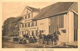 Autriche - Gruss Aus Feldkirch Tisis Vorarlberg - Gasthaus Zum Engel - Schöne Animation - Motorrad, Auto, Pferdekutsche - Feldkirch