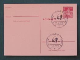 Berlin Germany 1970 Special Lenin Cancel On Stationery Postcard - Church - [5] Berlijn