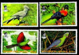 7660  Birds - Oiseaux - Swaziland Yv 646-49 - MNH - 1,75 - Oiseaux