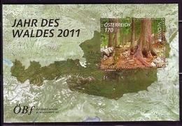 ÖSTERREICH BLOCK 67 ** EUROPA CEPT 2011 JAHR DES WALDES - 2011