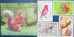 Uzbekistan  2018  Fauna Of Uzbekistan  S/S +  3 V  MNH - Uzbekistan