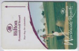 HILTON Pyramids Golf Resort - Clef D`hotel / Room Key  - Voir Scans - France