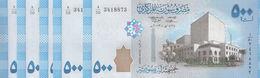 SYRIA 500 LIRA POUNDS 2013 P-115  LOT X5 UNC NOTES*/* - Siria