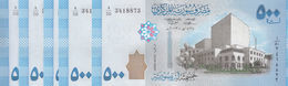 SYRIA 500 LIRA POUNDS 2013 P-115  LOT X5 UNC NOTES*/* - Syrië