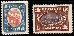 S131.-. NORTH INGERMANLAND - FINLAND - 1920 - SC # : 10, 14 - MH - Finland