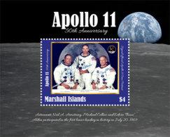 Marshall Islands 2019 APOLLO 11 ,space    I201901 - Marshall Islands