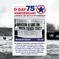 Marshall Islands   2019  D-DAY  ,World War II  I201901 - Marshall Islands