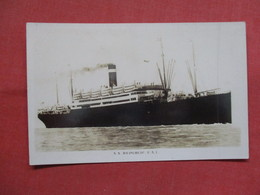 RPPC   T S.S. Republic U.S. 1  3551 - Steamers