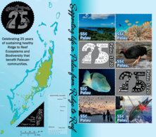 Palau  2019  Map, Coral ,fish, Fishing ,bird  I201901 - Palau