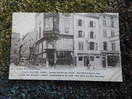Bombardement Par Avions Rue Bénit Et Rue St Jean  NANCY Guerre 1914-1918  CPA - Nancy