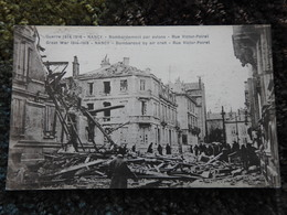 Bombardement Par Avions Rue Victor Poirel  NANCY Guerre 1914-1918  CPA - Nancy
