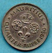 R13/ MAURITIUS / MAURICE  1/4 RUPEE 1950 - Mauritius
