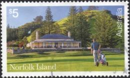 2018 NORFOLK ISLAND $5 Very Fine Postally Used GOLF Stamp - Ile Norfolk