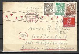 Yougoslavie Lettre Censurée   Du 24 09 1947 De Sarajevo   Pour Munich - Covers & Documents