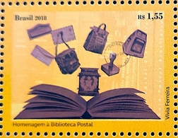 Brazil C 3753 Selo Homenagem À Biblioteca Postal 2018 HOMAGE TO THE POSTAL, LIBRARY, BOOK, MAIL BOXES - Ongebruikt