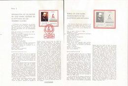 V) 1987 MEXICO, BURIAL OF JOSE MARIA IGLESIAS RESTS IN THE ILLUSTRIOUS MEN ROTUNDA, FDB - Mexico
