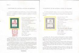 V) 1987 MEXICO, A HUNDREDTH OF THE NATIONAL SCHOOL OF TEACHERS, FDB - Mexico