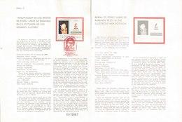 V) 1987 MEXICO, BURIAL OF PEDRO SAINZ DE BARANDA RESTS IN THE ILLUSTRIOUS MEN ROTUNDA, FDB - Mexico