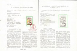 V) 1987 MEXICO, A HUNDRED AND TWENTY FIFTH ANNIVERSARY OF THE BATTLE OF PUEBLA, FDB - Mexico