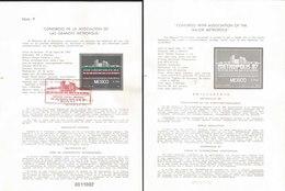 V) 1987 MEXICO, CONGRESS WITH ASSOCIATION OF THE MAJOR METROPOLIS, FDB - Mexico