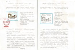 V) 1987 MEXICO, FIFTH ANNIVERSARY OF THE NATIONAL BANK OF FOREIGN COMMERCE, N.C.C, FDB - Mexico