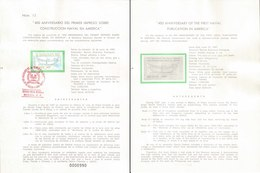 V) 1987 MEXICO, 400 ANNIVERSARY OF THE FIRST NAVAL PUBLICATION IN AMERICA, FDB - Mexico