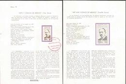 V) 1987 MEXICO, ART AND SCIENCE OF MEXICO( TWELFTH SERIES), J. E. HERNANDEZ Y DAVALOS , FDB - Mexico