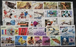 Congo Kinshasa Zaire USED LOT POSTAGE FEE TO BE ADDED ON ALL ITEMS - 1980-89: Used