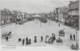 BERGERAC - LA PLACE GAMBETTA UN JOUR DE MARCHE AU BOIS - SUPERBE ANIMATION - VERS 1900 - Bergerac