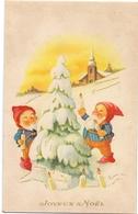 Fantasie Fantaisie - 2 Kabouters Aan Kestboom - 2 Lutins - Joyeux Noel - Fantaisies