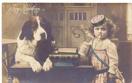 Fantasie Fantaisie - Jung Heidelberg - Meisje Met Hond St Bernard - Fille & Chien - Cigarette - - Fantaisies