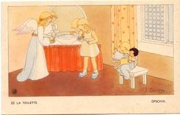 Devotie - Devotion - Engel Met Kinderen - Ange & Enfants  - La Toilette - Opschik - Illustr J. Gouppy - Christianisme