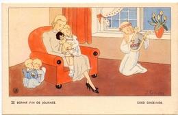 Devotie - Devotion - Engel Met Kinderen - Ange & Enfants - Bonne Fin De La Journée - Goed Dageinde - Illustr J. Gouppy - Christianisme