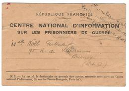 21017 - INFORMATION Sur Les P.G. - Poststempel (Briefe)